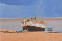 """Sheltering from the storm, Aldeburgh"""