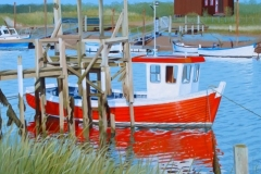 """The red boat, Southwold harbour"""