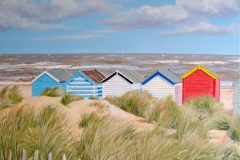 Beach Huts in the Dunes, Southwold