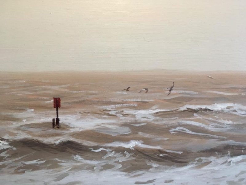 The sea off Southwold week 6